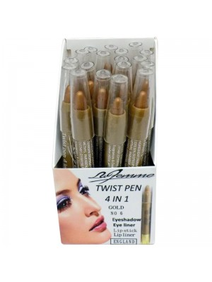 La Femme 4 in 1 Twist Pen - Gold