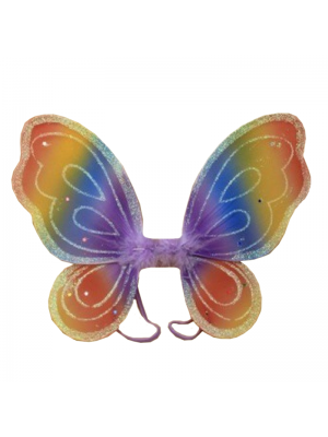 Wholesale Butterfly Rainbow Themed Wings - 32cm