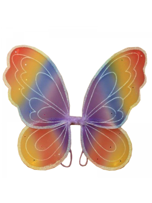 Wholesale Butterfly Rainbow Themed Wings - 53cm