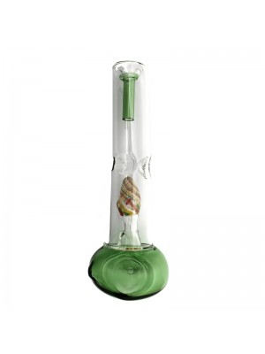 Glass Smoking Pipe with Dome Percolator Straight