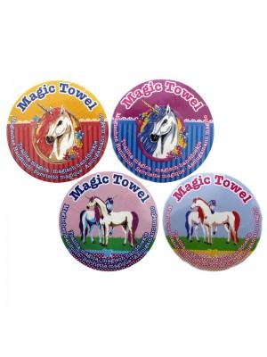 Magic Cotton Unicorn Towel - Assorted Design (30cm)