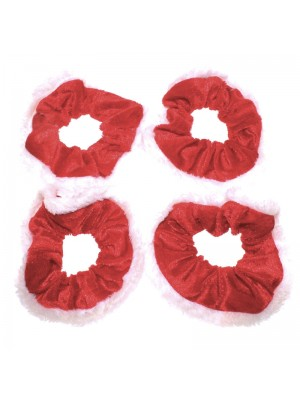 Christmas Scrunchies - Red White
