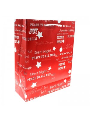 Christmas Themed Gift Bag - Large (26x32x12cm)