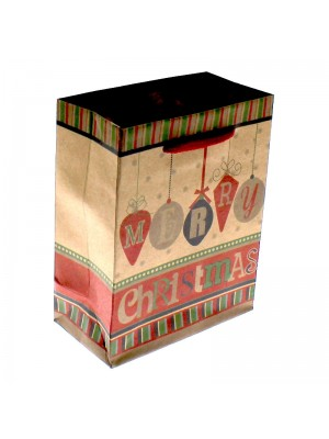 Merry Christmas Themed Gift Bag - Small (12x15x5.5cm)