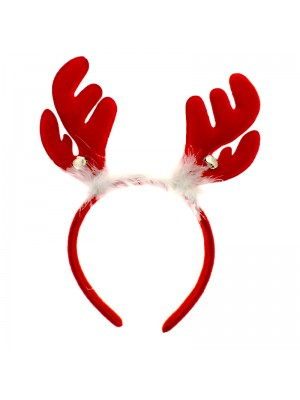 Red Reindeer Antlers on Aliceband Fancy Dress Christmas