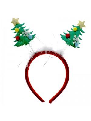 Christmas Tree Deeley Bopper on Aliceband