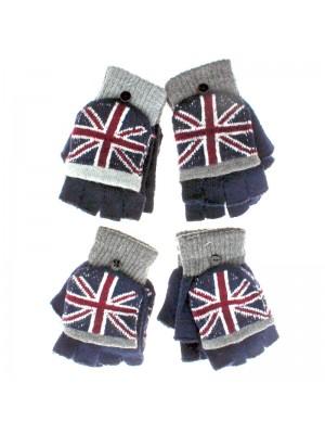 Unisex Union Jack Fingerless Gloves