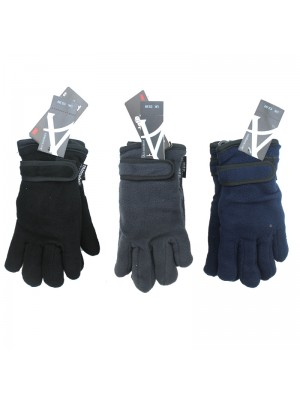 Children Thinsulate Fleece Gloves With Felt Lining - Assorted Colours