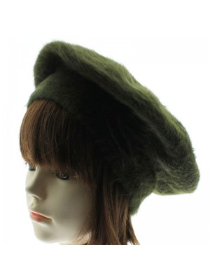 Ladies Angora Beret - Green