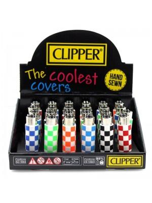 Clipper Assorted Squares Print Flint Lighter