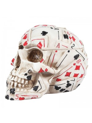 Dead Mans Hand Playing Cards Themed Skull 18.8cm