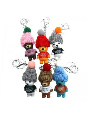 Teddy Bear Bag Charm - Assorted Colours