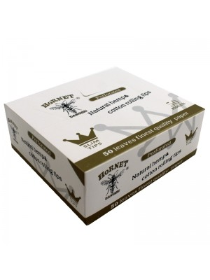 Wholesale Hornet 50 Booklets Natural White Unrefined King Size Slim Rolling Paper + Fliter Tips