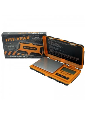 Tuff-Weigh Rugged Rubber Grip Digital Pocket Scale (1000g x 0.1g)