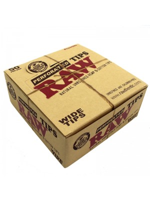 RAW Perforated Wide Tips Rolling Paper