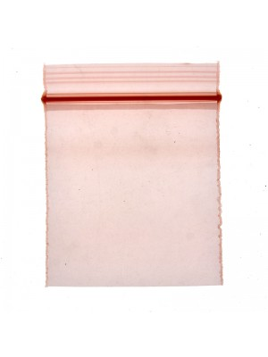 Zipper Grip Seal Baggies - Orange - 50x50mm