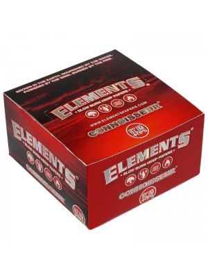 Elements Connoisseur Red King Size Slim Rolling Paper + Tips