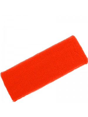 Head Sweatbands Neon Orange (Wide 14cm x 7cm)