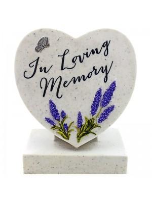 In Loving Memory Standing Memorial Heart Ornament