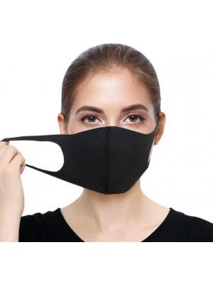 Reusable Stretchable Spandex Face Mask-Black