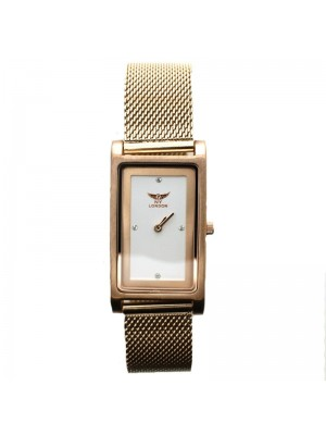 NY London Ladies Watch - Rose Gold and White