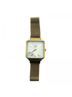 NY London Ladies Mesh Watch - Gold
