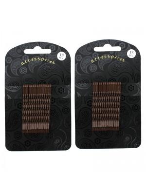 Hair Grip Set - Brown (5.5cm)