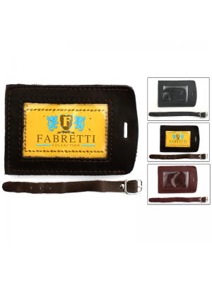 Fabretti Leather Luggage Tag (Assorted Colours)