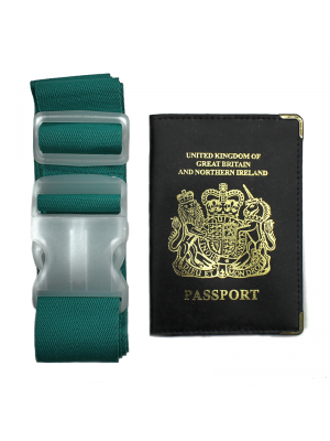 Leather Passport Cover & Luggage Strap