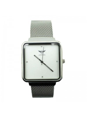 NY London Mens Square Watch - Silver
