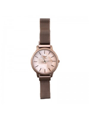NY London Ladies Mesh Watch - Rose Gold