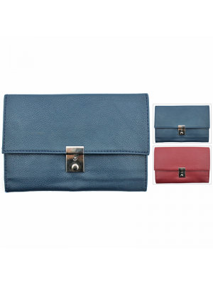 Fabretti Leather Document Holder  - Assorted Colours
