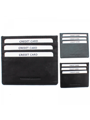 Leather ID/Card Holder - Assorted Colours