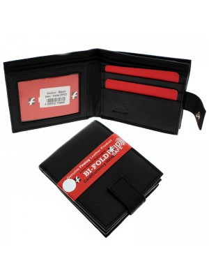 Mens Real Leather Wallet - Black