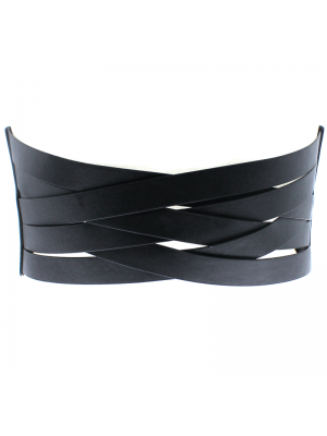 Criss Cross Waist Belt - Black