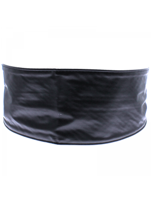 Plain Tie Waist Belt - Black