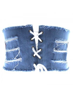 Denim Corset Belt - Bue