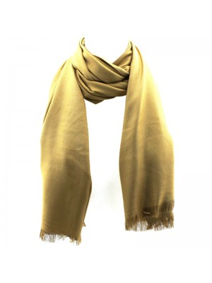Ladies' Pashmina Scarves With tassels  - Mustard Gold
