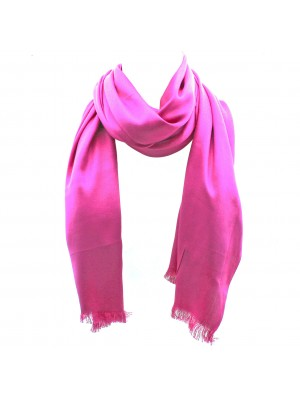 Ladies' Pashmina Scarves With tassels  - Hot Pink