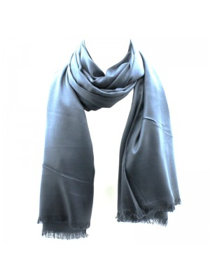 Ladies' Pashmina Scarves With tassels  - Dark Grey