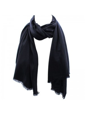 Ladies' Pashmina Scarves With tassels  - Black