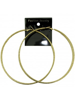 Gold Three Row Hoop Earrings - 9cm