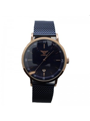 NY London Mens Watch - Rose Gold and Blue