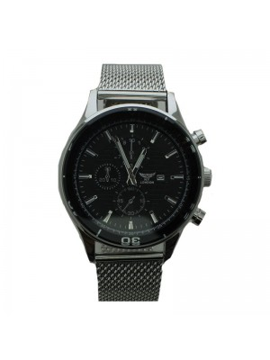NY London Mens Watch with Dials - Silver and Black
