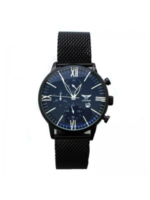 NY London Mens Watch with Dials - Black