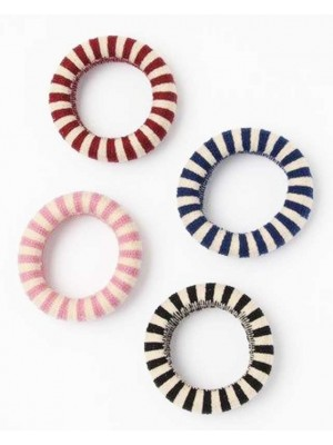 Molly & Rose Large Striped Jersey knit Donut Elastic 5x1.4cm