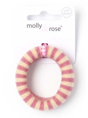 Wholesale Molly & Rose Large Striped Jersey knit Donut Elastic 5x1.4cm