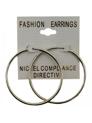 Silver Small Hoop Earrings - 4cm