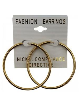 Gold Small Hoop Earrings - 4cm