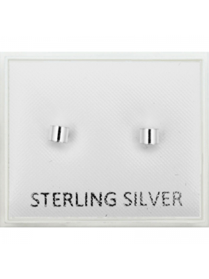 Sterling Silver Cylinder Studs - 3mm
